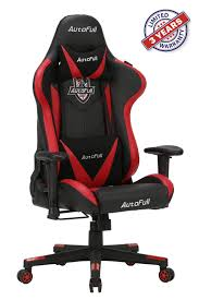 AutoFull Ergonomic Video Gaming Office Chair PU Leather Bucket Seat Racing  Desk Red Chairs With Lumbar Support (3-Years Warranty)