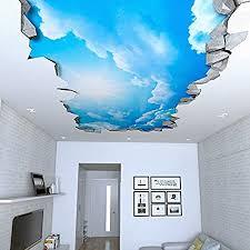 tapete 3d effekt 130 x 72 cm himmel 3d effekt decke aufkleber