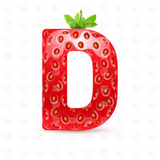 Strawberry Style Font Letter D Vector Image Of Signs Symbols Maps