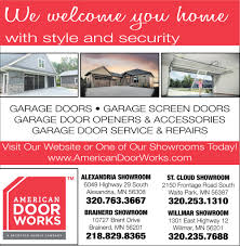 We Welcome You Home With Style And Security, AMERICAN DOOR WORKS ... Paynesville Yarmon Ford Inc New Used Cars Princeton Auto Center In Serving Zimmerman St Cloud Mn Cold Spring For Sale Schwieters Chevrolet Of Mills Motor Dealership Baxter Nuss Truck Equipment Tools That Make Your Business Work 2018 Jeep Renegade Trailhawk 4x4 For Willmar Vin Moving Rentals Budget Rental Photos Lu Beans Yelp Montevideo Sales
