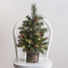 Ge Pre Lit Christmas Tree Problems by 2 Ft Crestwood Spruce Pre Lit Battery Operated Led Christmas Tree