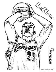 LeBron James Basketball Coloring Tell Other Kids You Found
