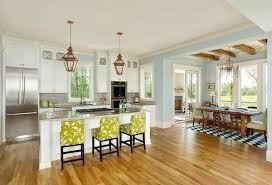 Here We Have A Large Very Open Design Kitchen Centered On White Island