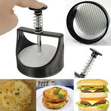 presse cuisine 1 pcs manuel hamburger presse grill bricolage hamburger maker pour