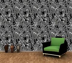 Silver Metal Liquid Wall Mural Decor Photo Wallpaper