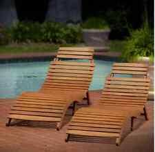 Sunbathing Chair Sun Loungers Pool Poolside Furniture Patio Set of