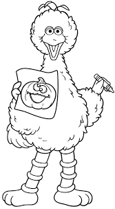 Es Big Bird Dancing Coloring Pages To Print