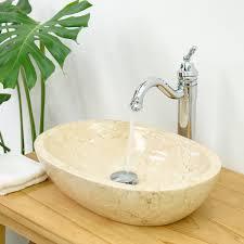 marmor waschbecken mara oval poliert creme 45x35x12 cm kaufen