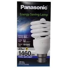 buy panasonic energy saving bayonet light bulb 23w cfl cool day