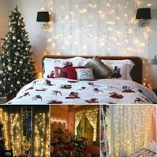 led lichternetz lichtervorhang lichterkette deko vorhang innen außen 3x3m