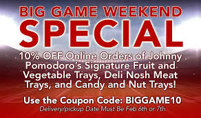 Johnny Pomodoro's Big Game Weekend Special - Johnny ... Turner Buick Gmcnew Holland Lancaster Pa Gmc Dealer Shriram Disney Store Uk Promo Code Nov 2019 Ptaxpro Health Wellness Business Cards Staples Eclub Sign Up Loyalty Program Granite City Brewery Labels Stickers Custom Baby Stationery Invitations Announcements Signature Angelcare Coupon Hextom Shopify Experts Roma Specialty Pizza Nashville Add Warehouse Emudhra Digital Signature And Authencation Firm