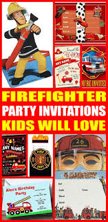 100 Fire Truck Birthday Party Invitations Fighter