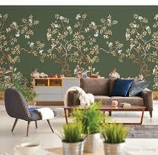 großhandel bacaz 3d tapete vintage vogel muster papier 8d handbemalte blumentapete wandaufkleber für wohnzimmer wandverkleidung dekor vvsong
