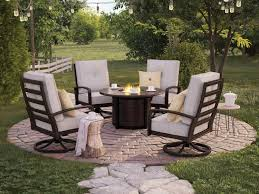 Castle Island Round Fire Pit Table Set P414 | Ashley Furniture ... Hanover Summer Nights 5piece Patio Fire Pit Cversation Set With Amazoncom Summrnght5pc Zoranne 4 Chairs Livingroom Table With Outdoor Gas And Tables Sets Fniture Fresh Ding Shop Monaco 7piece Highding 6 Swivel Rockers And A The Greatroom Company Kenwood Linear Height Alinum Cheap Chair Beautiful Comet 8 Wicker Chat Tank Awesome Top 10 Envelor Oval Brown 7 Piece Poker Stunning