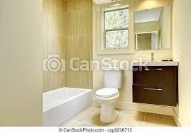 neues modernes gelbes badezimmer mit beigen fliesen neues
