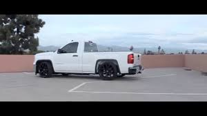 Carlos's Lowered GMC Sierra - YouTube