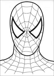 Click To See Printable Version Of The Head Spider Man Coloring Page