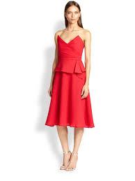 bcbgmaxazria tessa strapless dress in red lyst