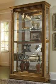 Pulaski Glass Panel Display Cabinet by Oak Curio Cabinets Foter