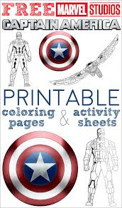 Captain America Coloring Pages Activity Sheets Save These Free Printable
