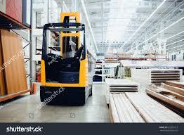 100 Warehouse Houses Forklift Loader Pallet Building Materials Stock Photo