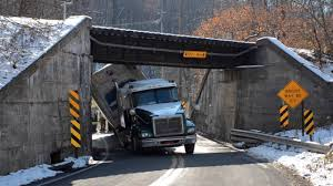 100 Truck Hits Overpass PHOTOS S Trailer Fails To Clear Railroad Overpass WFMZ