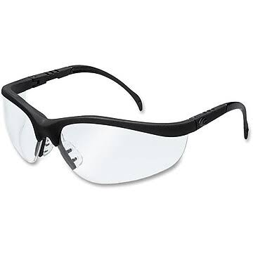 Mcr Crews Klondikke Safety Glasses - Black Frame, Clear Lens