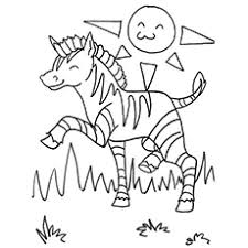 Bunch Ideas Of Zebra Coloring Pages To Print About Letter