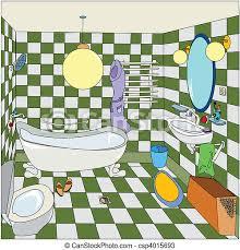 wenig badezimmer skizze badezimmer karikatur canstock