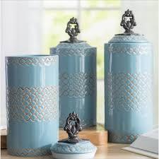 Ceramic Kitchen Canister Sets Ponce Cylinder Ceramic Kitchen Canister Set Of 3