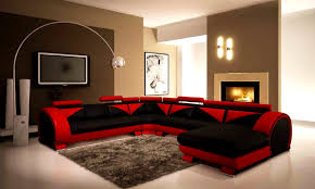 Bedroom Handsome Living Room Decor Red And Black Small New Decorating