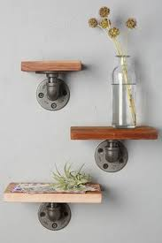 rustic wood floating shelf with hidden compartment rustic home