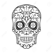 Easy Sugar Skull Day Of by Black And White Tattoo Skull Day Of The Dead Candy Skull Mexican