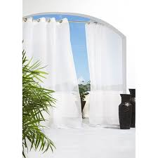 Sheer Cotton Voile Curtains by Escape 96 Inch Indoor Outdoor Sheer Voile Curtain Panel Pair