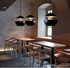 großhandel nordic designer schwarz weiß aluminium apple form led pendelleuchten bar hängele luminarias laras fixtures110v suspend 260v