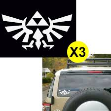 100 Cool Truck Stickers 3pcs Triforce Logo Wings By Legend Of Zelda 6 Die Cut For