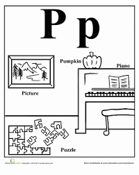 Words That Start With P Worksheet