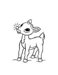 Rudolph The Red Nosed Reindeer Coloring Page Color Online Print