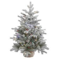 75 Flocked Slim Christmas Tree by 3ft Pre Lit White Flocked Pine Artificial Christmas Tree With