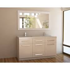 attractive off white wooden 60 inch double sink vanity added
