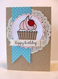 Paper Doily Cupcake Card