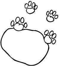 Tiger Paw Print Coloring Page High Quality