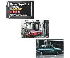 lot 3 magnet aimant deco new york panneau times square 5728