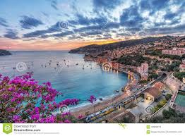 100 Villefranche Sur Mere Aerial View Of SurMer On Sunset France Stock Image