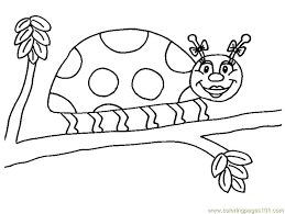 Coloring Pages Ladybug Insects Ladybugs Free Printable