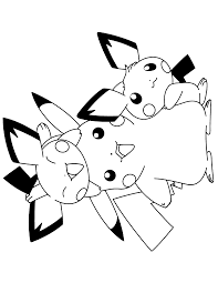 Pokemon Coloring Pages Pikachu And Pichu