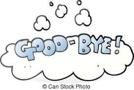 cartoon good bye symbol freehand drawn cartoon good bye