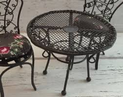 Miniature Wire Garden Table By Reutter Dollhouse Miniatures 112 Scale