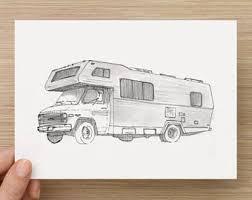Ink Sketch Of RV