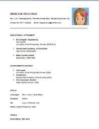 Easy Resume Examples Basicresumeexampleforjobs Basic Example Intended For Simple Sample Fresh Graduate